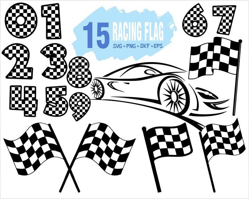 Racing Flag Svg Checkered Flag Svg Racing Svg Rally Car Svg Sports Racing Clipart Silhouett Svg Racing Clip Art