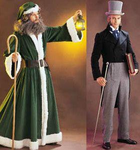 Christmas Caroling Costume.Butterick Pattern 3648 Oop Mens Dickens Scrooge A Christmas