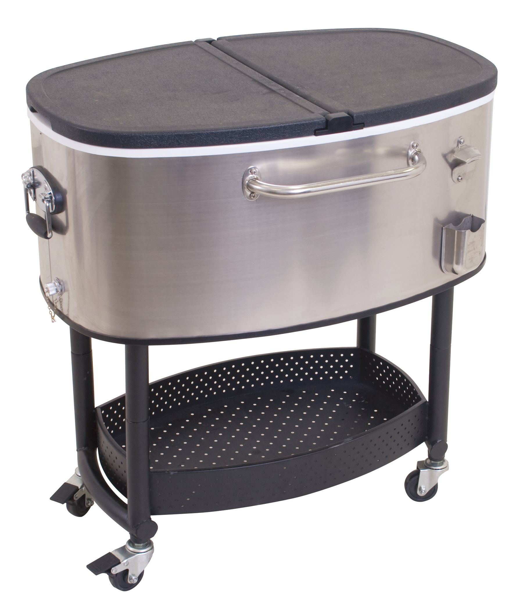 Stainless Steel Rolling Party Cooler