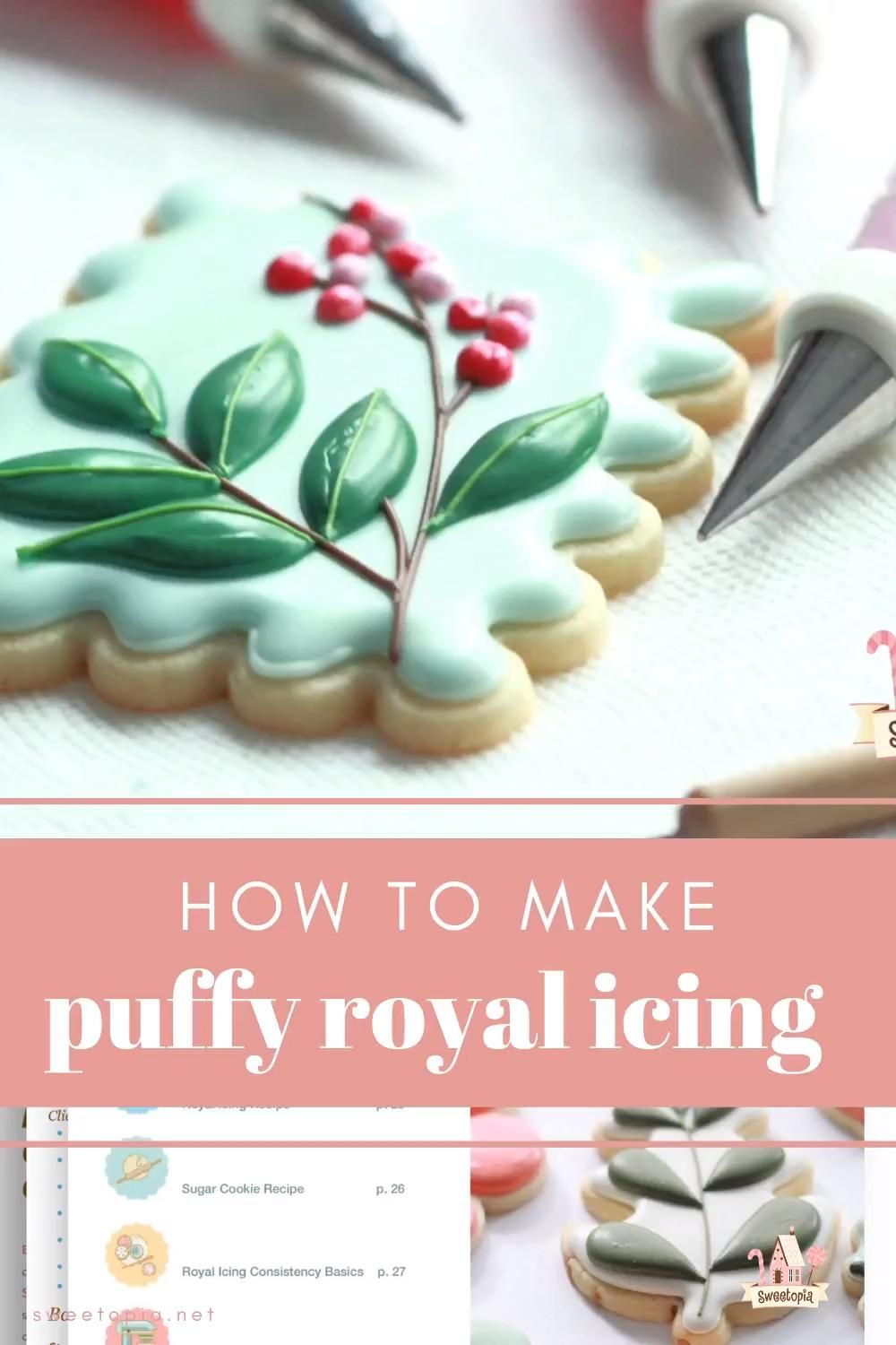 How to Make Puffy Royal Icing for Cookie Decoratin