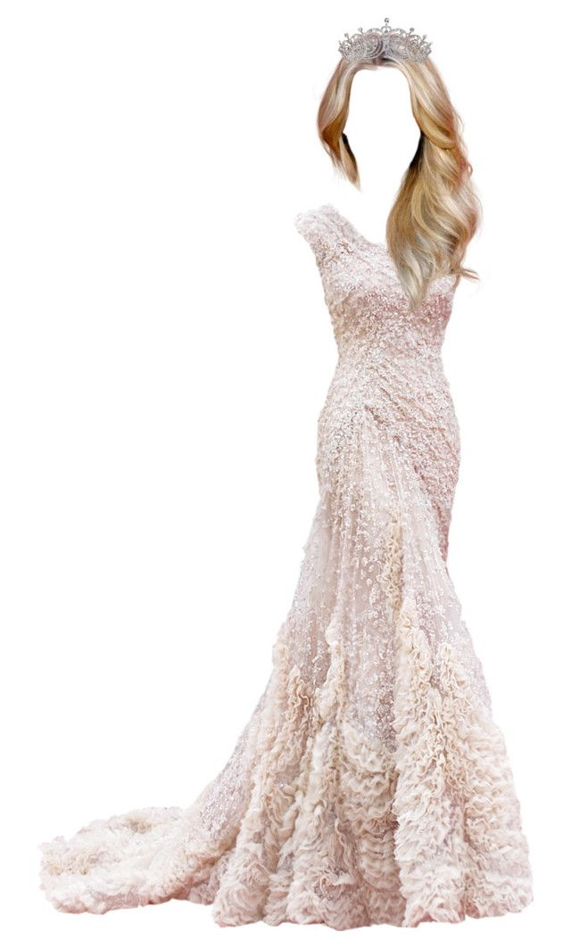 """""""Queen Hannah"""" by whitequeenfashion ❤ liked on Polyvore featuring Elie Saab"""