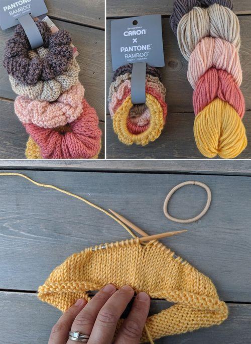 Free Knit & Crochet Scrunchies Patterns #crochetscrunchies