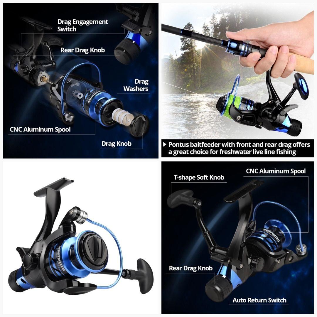 KastKing Pontus Spinning Reel Front And Rear Drag Live Lining Fishing Reel