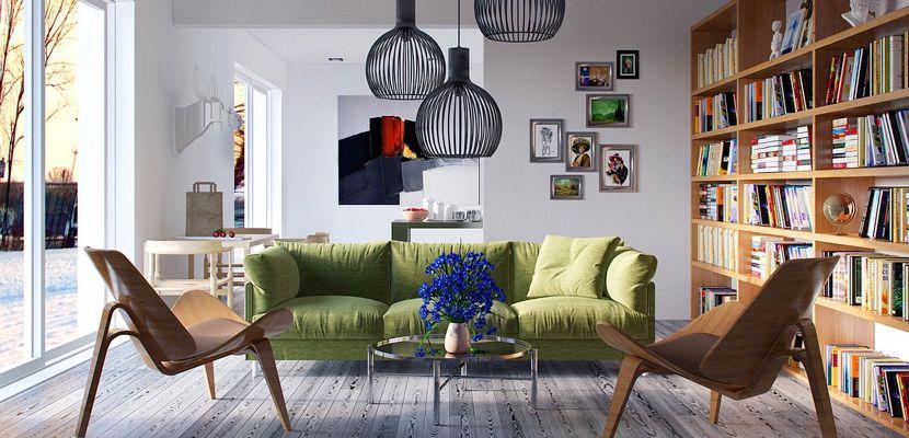 Salones creativos para el hogar - http://www.decoora.com/salones-creativos-hogar/