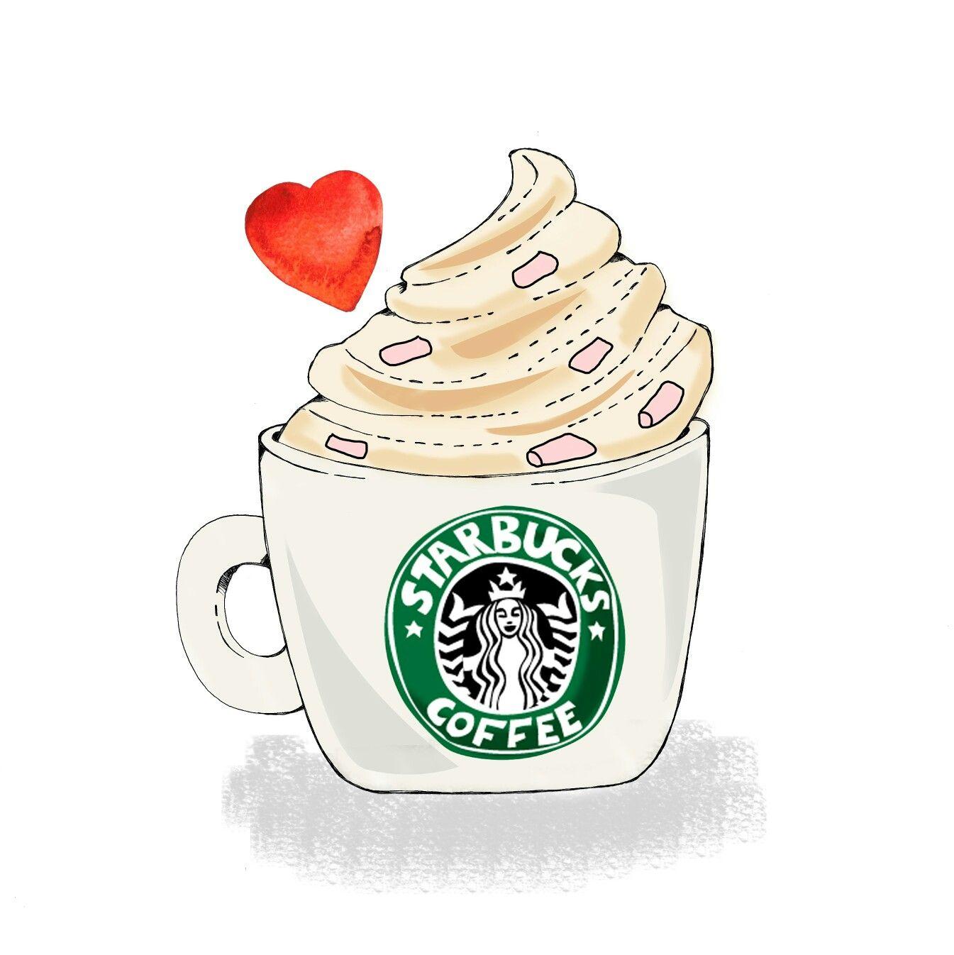 Illustration Chocolat Chaud Au Starbucks Coffee Par Clemlittleworld Clementine Benoliel Clementinebenoliel Com Aquarelle Starbucks Instagram Posts Vintage