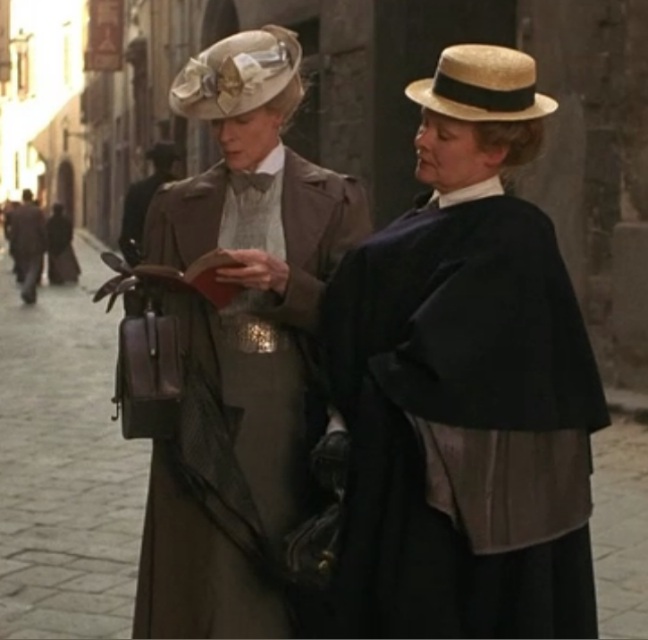 In Florence with no Baedeker.  Judi Dench & Maggie Smith.