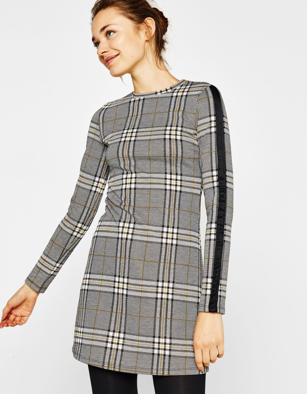 a76240ed8f8 Bershka United Kingdom - Short checked dress