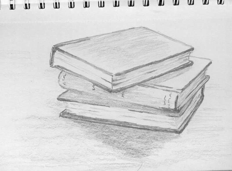 stack of books | Pencil drawings, Drawings, Pencil ...