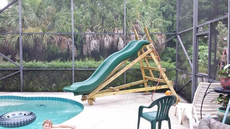Homemade Pool Slide!!!?! Homemade pools, Homemade