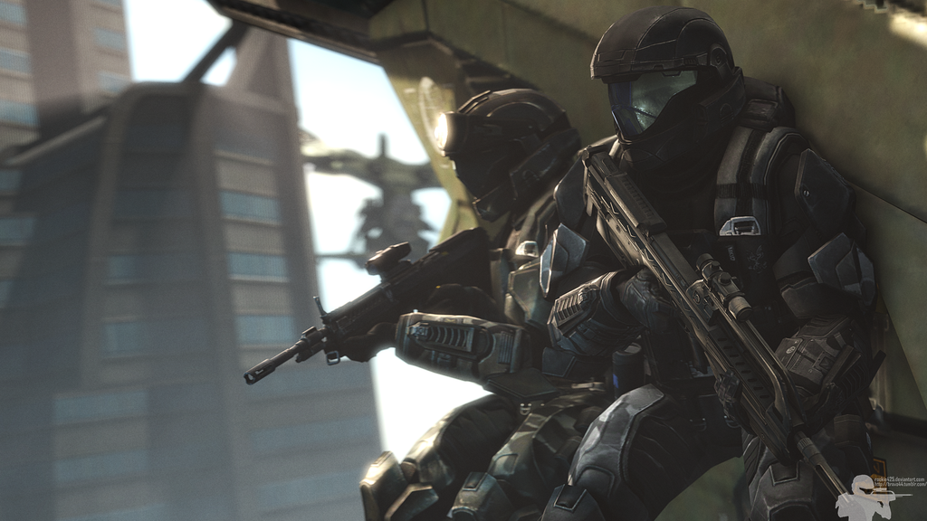 Made with SFM and GIMP. Model by SFMBloocobolt. Special thanks for his kickass ODST customs. I might actually have materials to make all of Crowbar squad now.