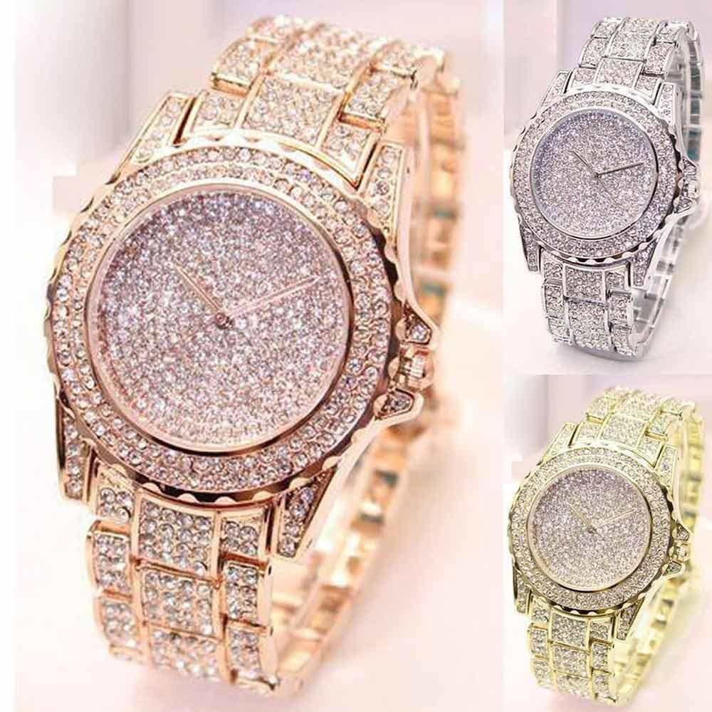 Women fashion luxury diamonds analog quartz vogue watches in