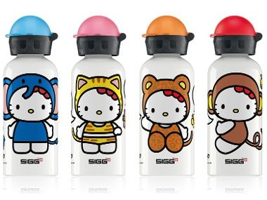 I think I need one of each of these Hello Kitty water bottles-one for each of the girls and I!