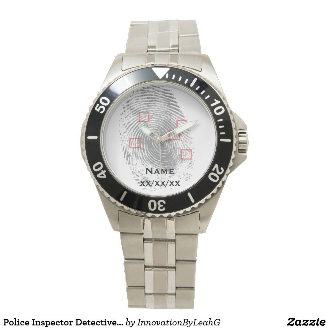 Police Inspector Detective Fingerprint Watch NAMED