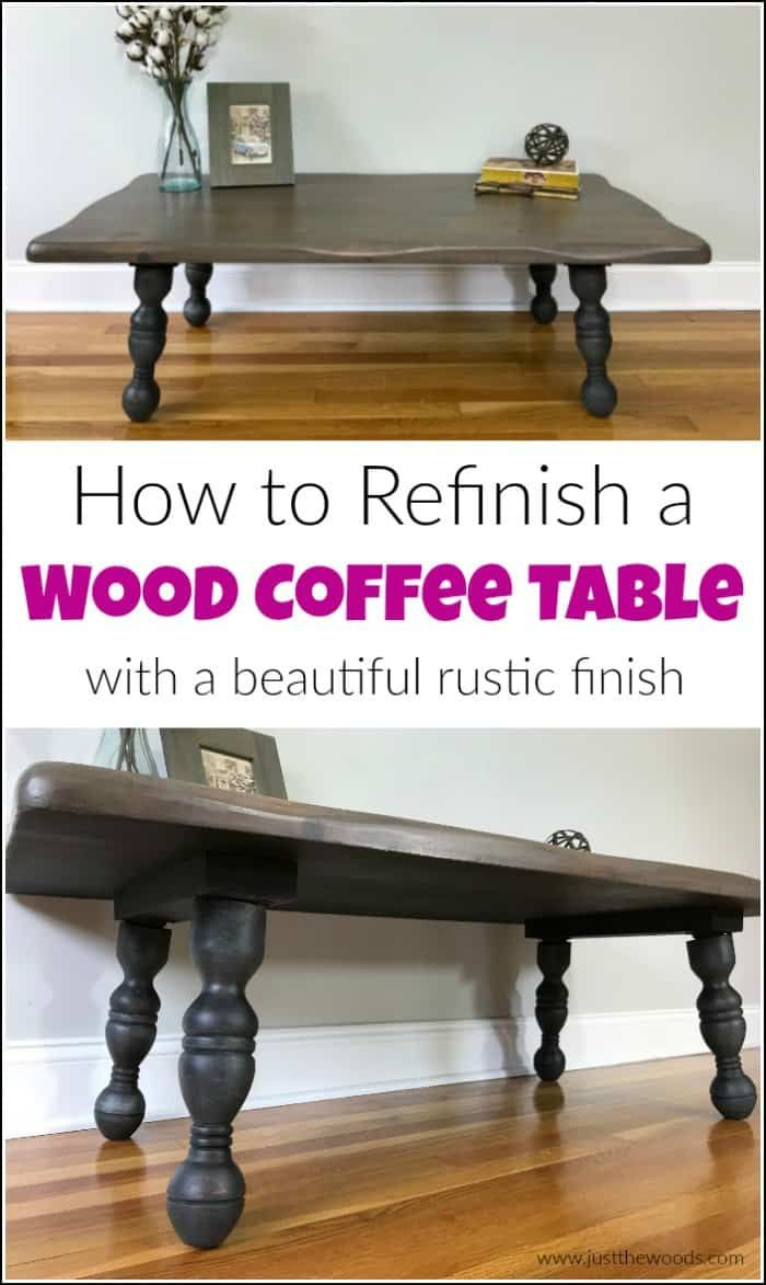 How to Refinish a Rustic Wood Coffee Table is part of Upcycled Crafts Awesome Coffee Tables - See how to refinish a rustic wood coffee table with beautiful results  Transform an old wood coffee table into a gorgeous rustic coffee table in a few steps