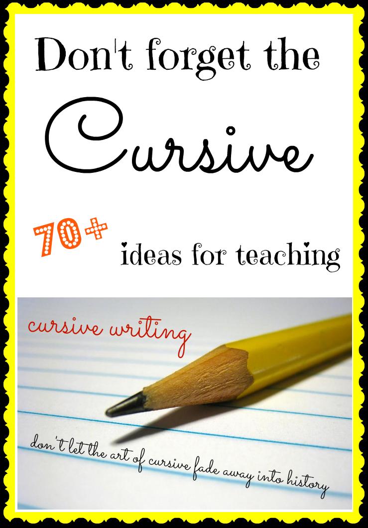 70+ ideas for teaching cursive handwriting! | Cursive Handwriting ...