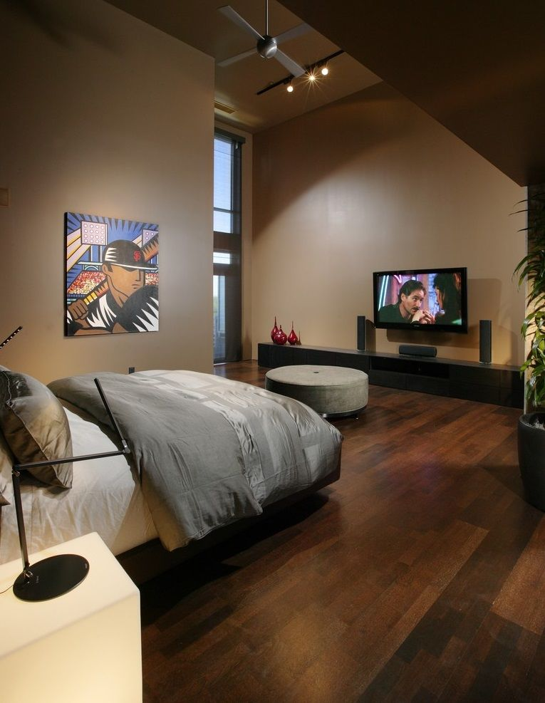 This Small Bachelor Pad Bedroom Emulates Earthy Tones And Decor To Give It A Zen Like