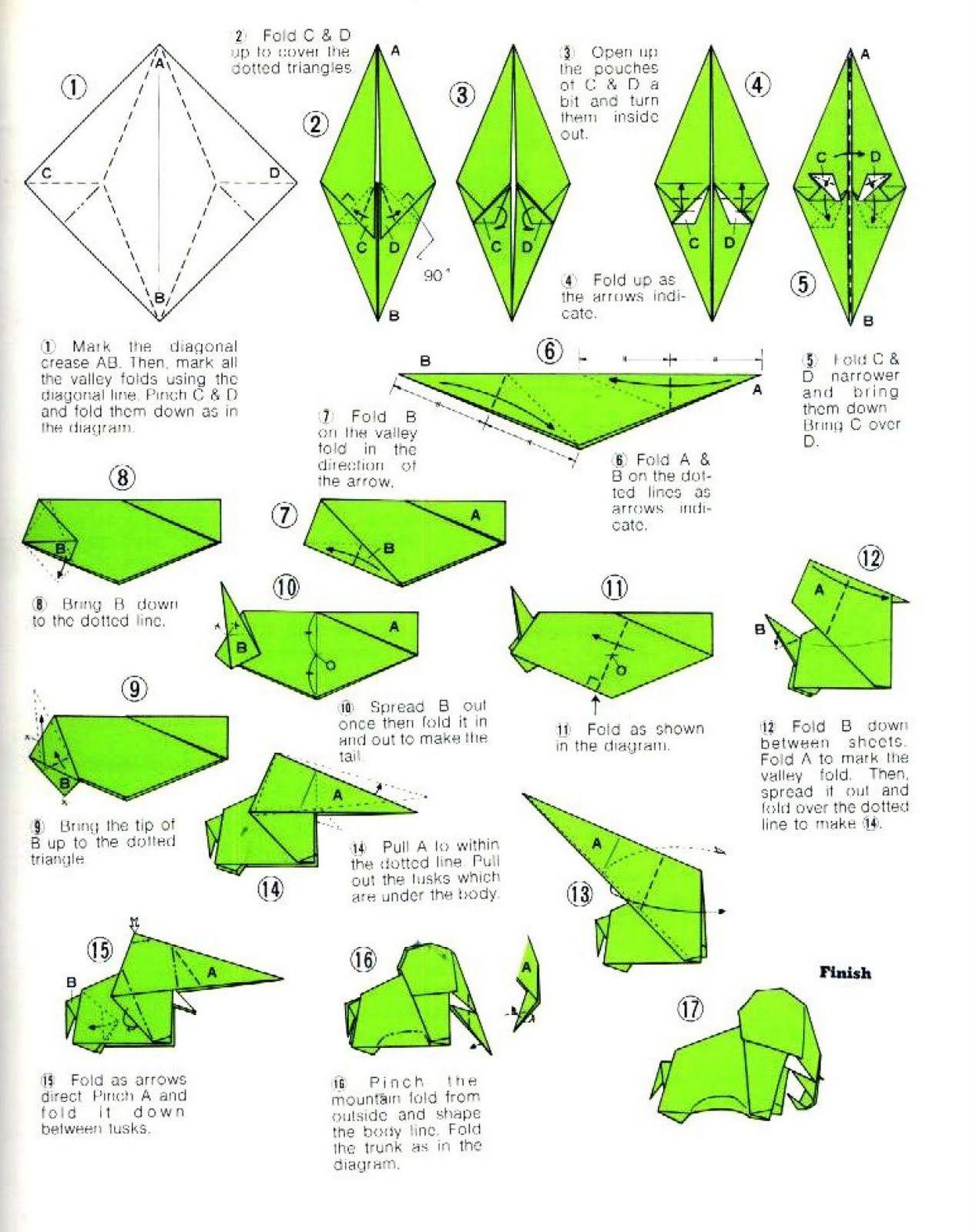 Resultado de imagen de origami animales paso a paso - Papiroflexia paso a paso ...