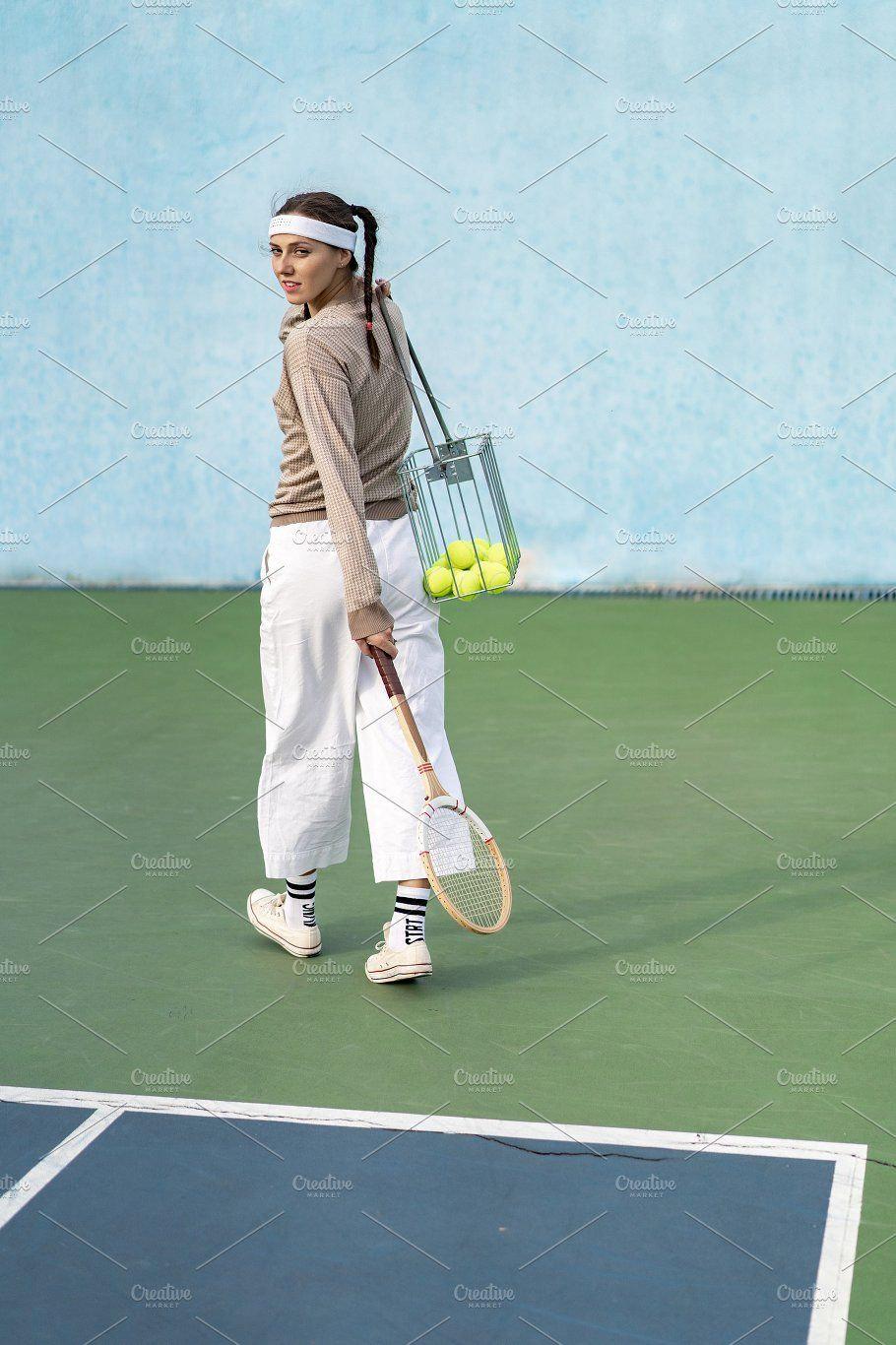 young woman playing tennis Sports, Sports photos, Photo