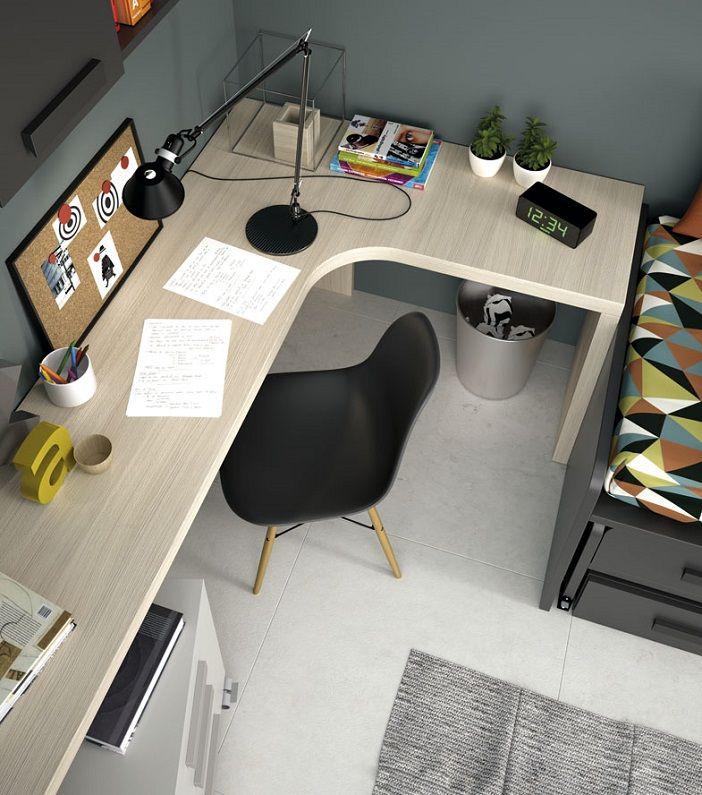 Mesa escritorio de rinc n estudios pinterest - Mesas de estudio para espacios pequenos ...