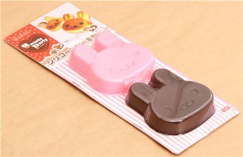 kawaii rabbit flower silicone cake mold for roll cake 6.37