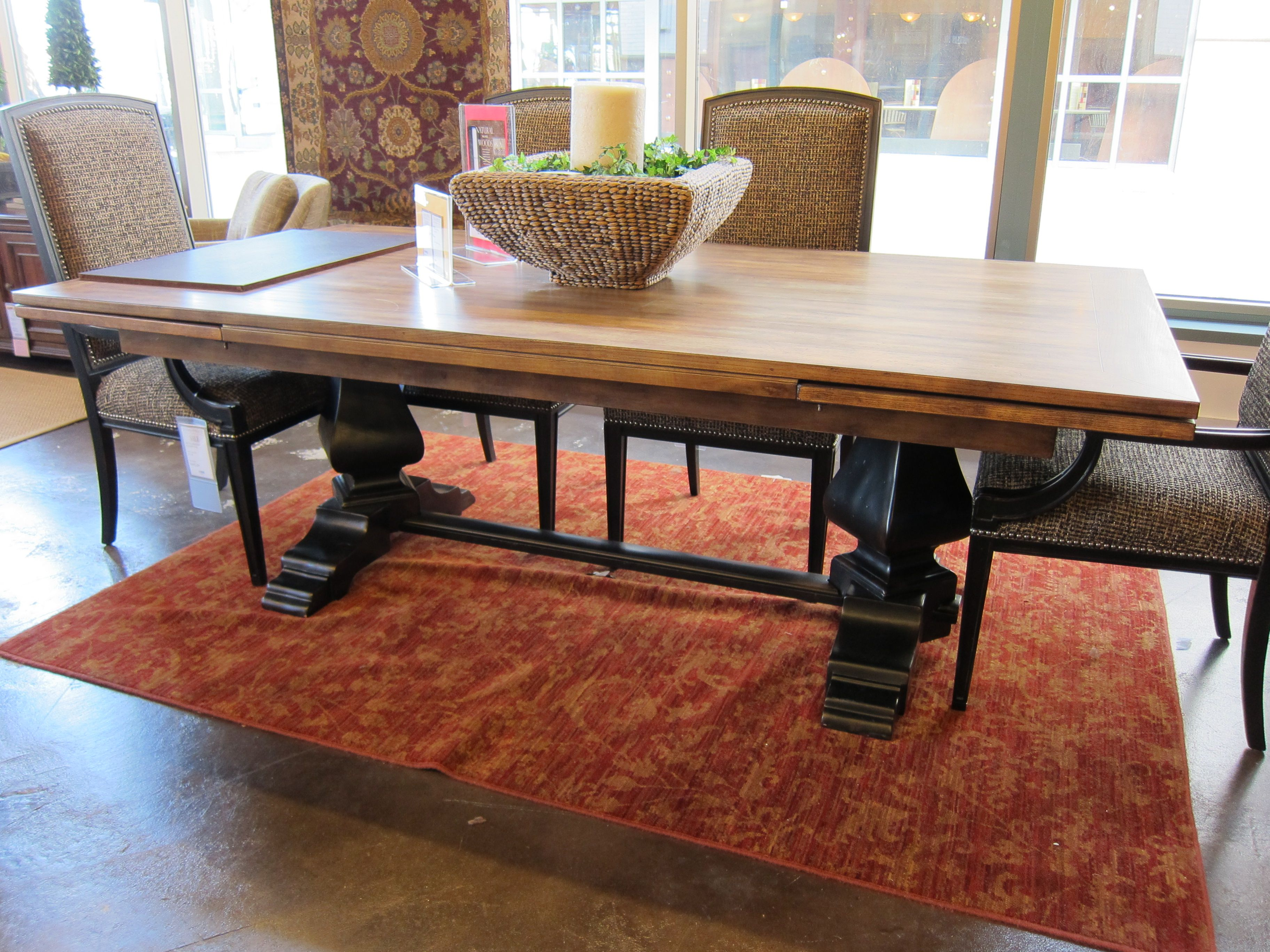 Hooker Sanctuary Refectory table in Ebony and