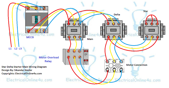 [FPWZ_2684]  A star delta starter wiring diagram 3 phase motor. star delta starter  diagram with connection of 3 phase motor and contr… | Electrical circuit  diagram, Delta, Motor | Delta Motor Wiring Diagram |  | Pinterest