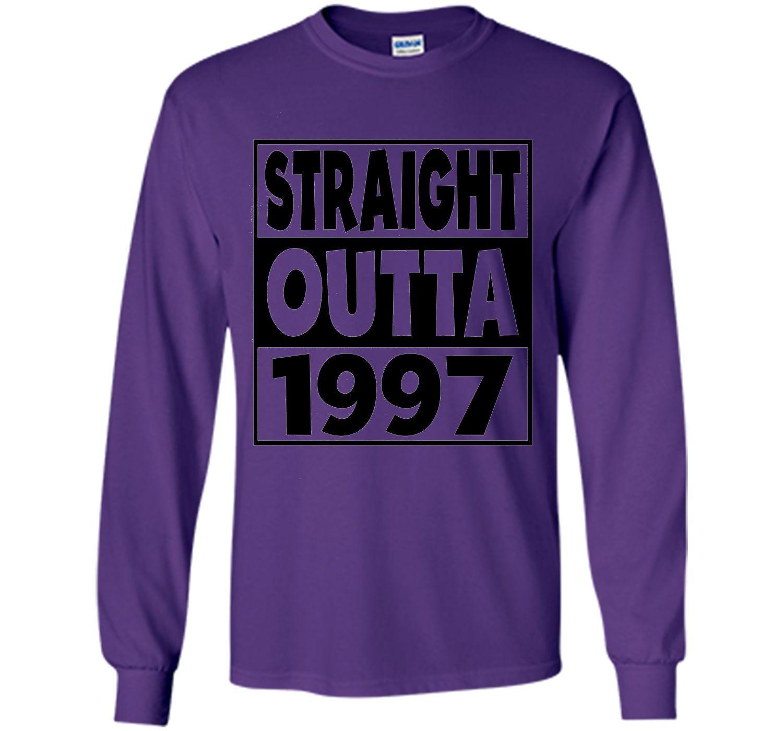 20th Birthday Gift T-Shirt Straight Outta 1997 White