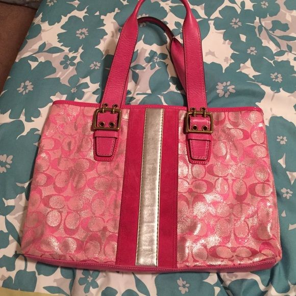 Pink Coach Bag Pink Coach Bag - used Coach Bags Satchels