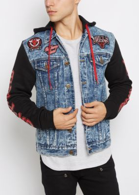 Chicago Bulls Patched Jean Jacket  d15aea11b10