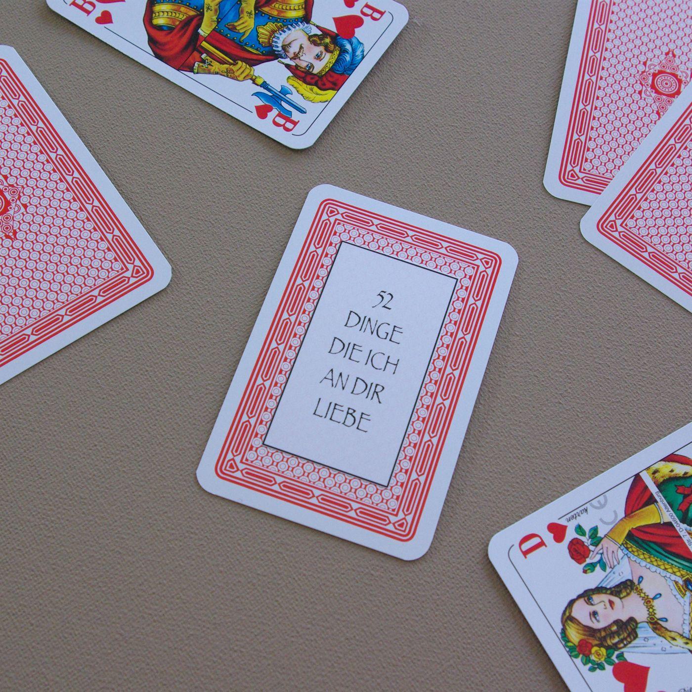52 Dinge die ich an dir liebe Karten Kartenspiel
