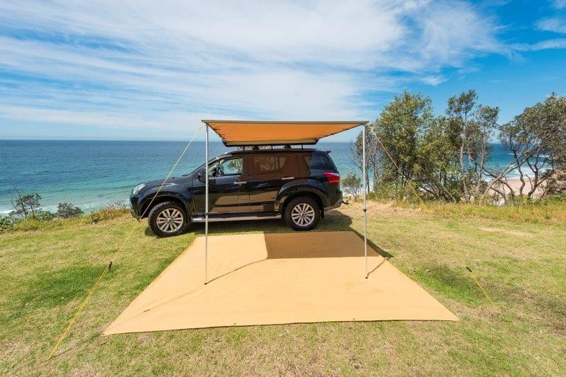 Kings 2 5x2 5m Side Awning Suits All Vehicles Inc L Mounting Kit Waterproof Upf50 Rated 4wd Supacentre In 2020 Awning Roof Rack Waterproof