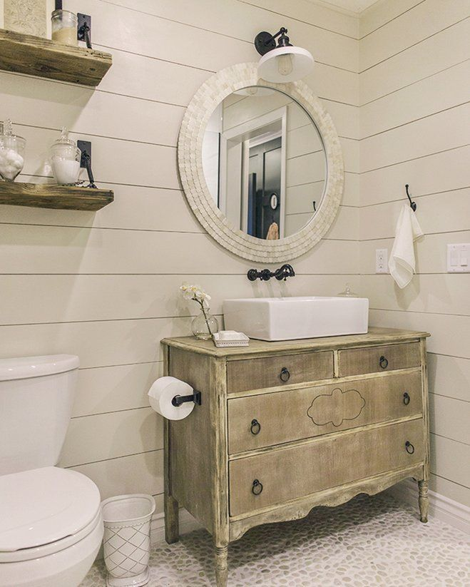 Before After Spa Bathroom Rises from the Rubble Wayfair #farmhouse