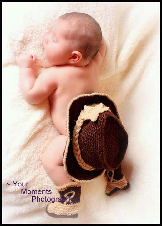 5aadef6b6bf8d Baby Cowboy Hat and Boots Chocolate Brown And by conniemariepfost ...