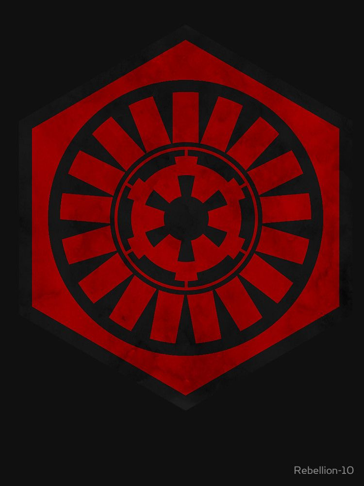 The Symbol Of The First Order And The Logo Of The Galactic Empire