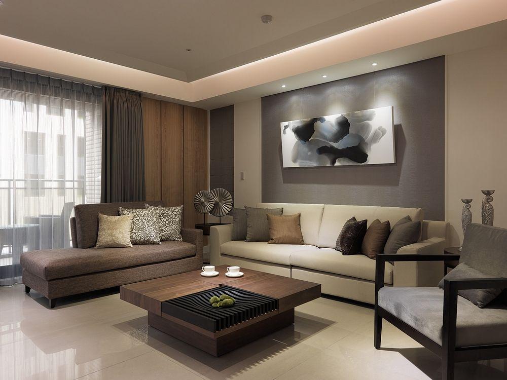 décoration salon beige marron deco maison Pinterest Salons