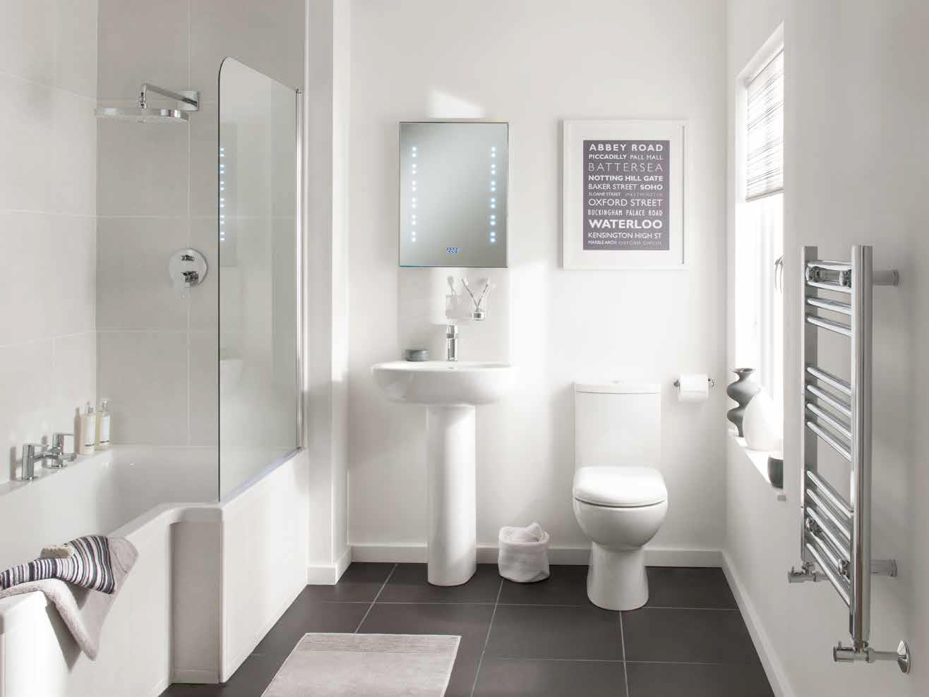 Metris single lever low pressure bath filler deck - Simple bathroom designs for small spaces ...