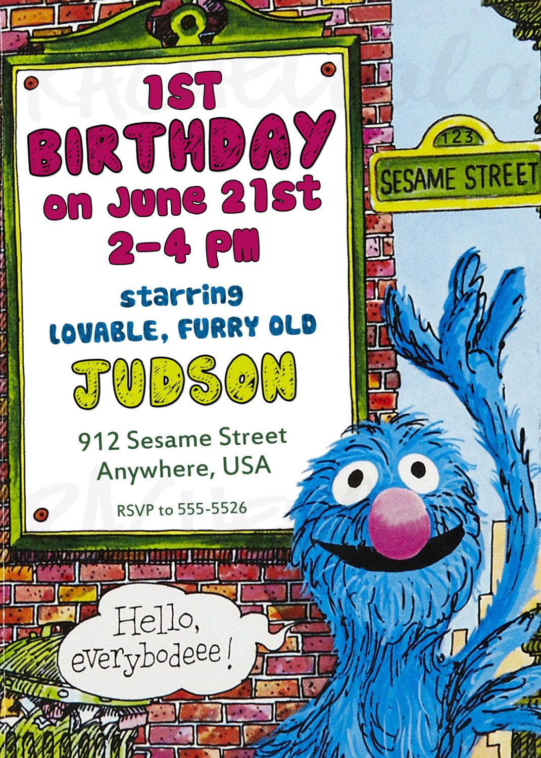 The Monster at the End of this Book, Sesame Street, Grover, Birthday ...