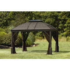 10 X 12 Hardtop Gazebo With Integrated Speakers Sears