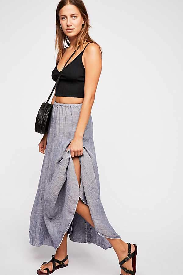 e654c37a8bf Cp Shades Lily Linen Maxi Skirt