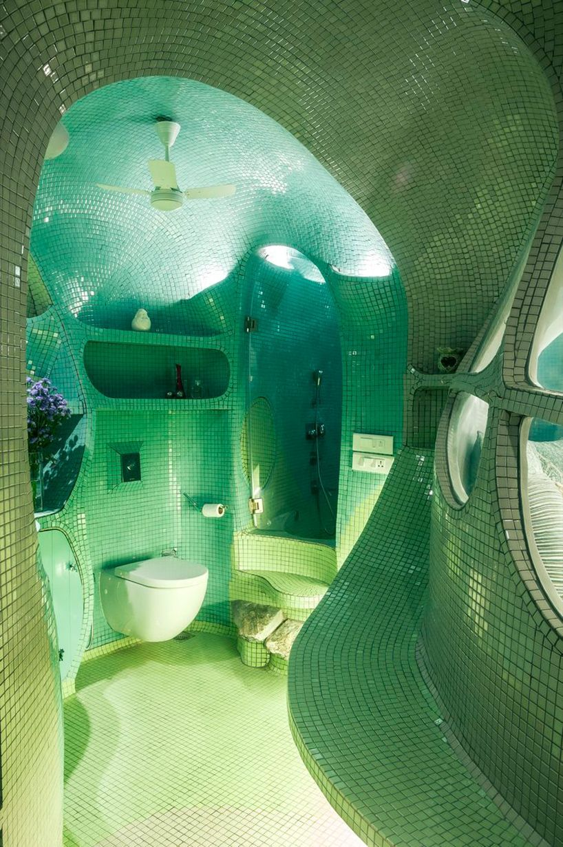 Photo of the white room studio sculpts mumbai's 'garden room' with organic fluidity