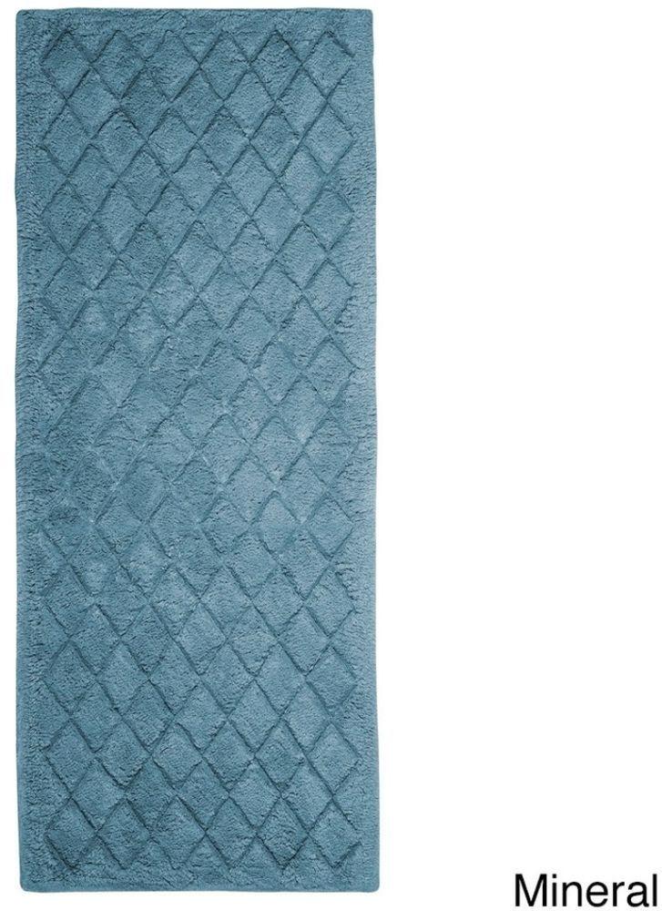 Sleek And Elegant Extra Plush Mineral Cotton Bath Rug Non Skid Backing 24x60 In Bathroom Pinterest Rugs Toilet
