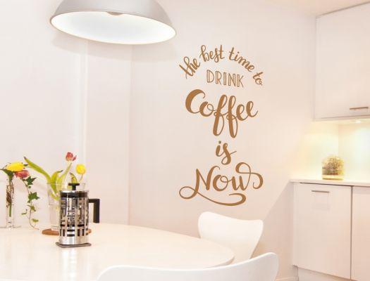 Englischer Kaffee Wandspruch Küche und Esszimmer Wandtattoo - küchen wandtattoo sprüche
