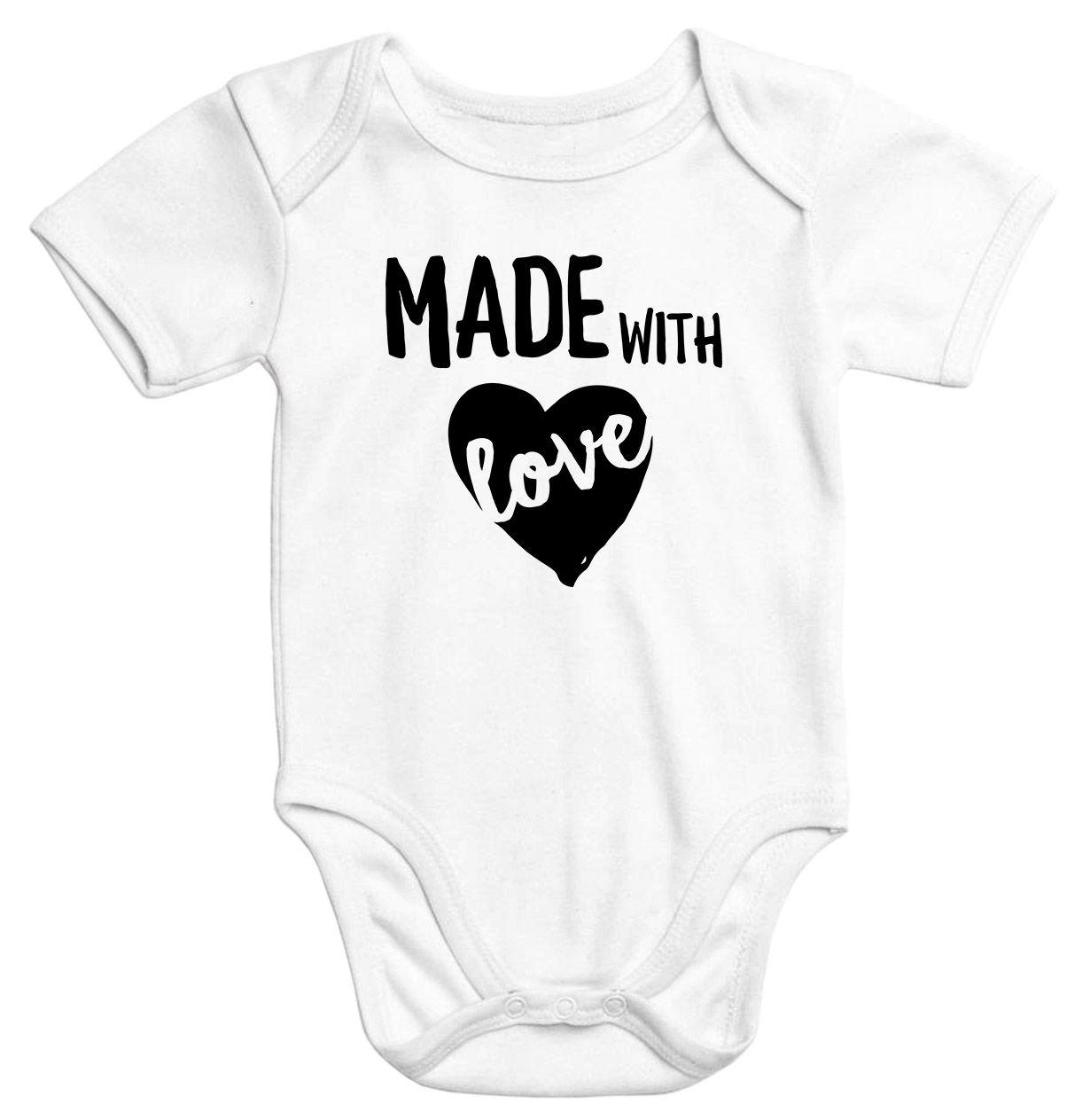 Baby Body Made With Love Herz Kurzarm Bio Baumwolle Aufdruck Moonworks Baby Body Spruche Baby Body Bemalen