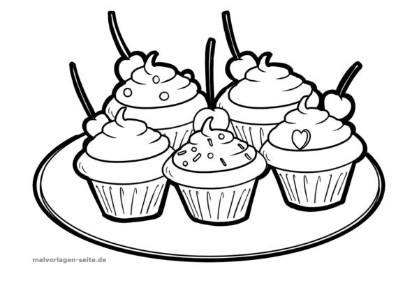 Malvorlage Cupcakes | Kostenlose malvorlagen, Cupcakes und Ausmalen