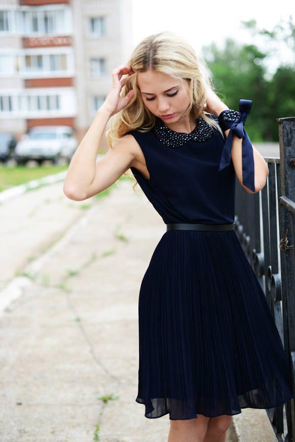 Navy  #love #dress #dress