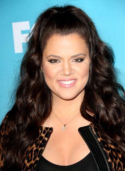 Khloe kardashian half updo hairstyles long brunette and half updo hair style pmusecretfo Images