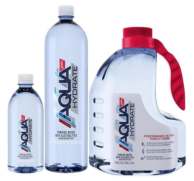 About Aquahydrate Water Bottle Label Design Bottle Label Design
