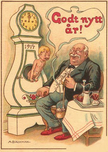 postales antiguas #godtnyttår