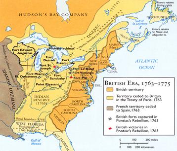 British Era 1763 75 Map Historical Maps North America Map History