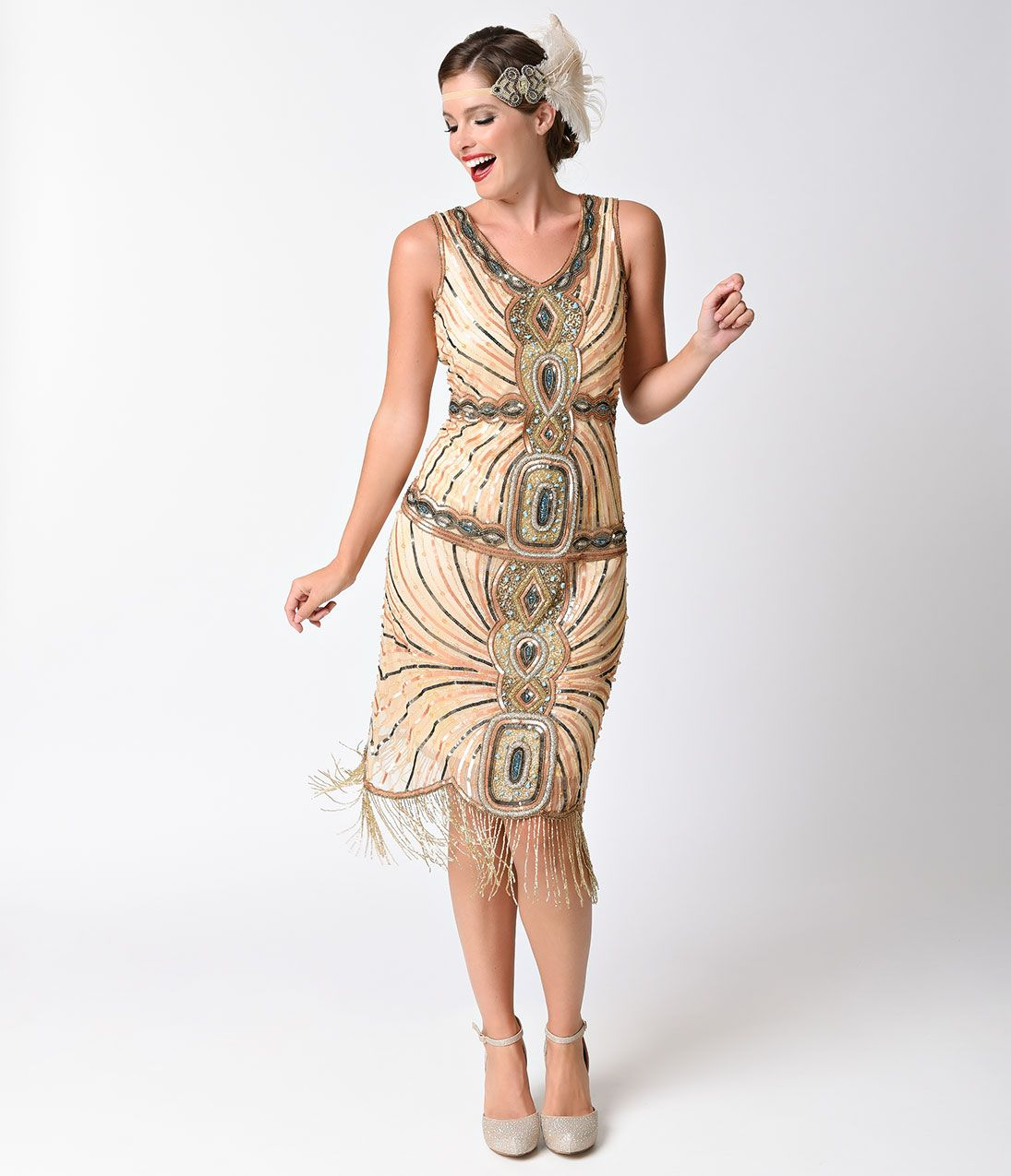 1920s Formal Dresses | 1920s style, Fringe flapper dress and 1920s
